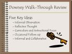 downey walk through review