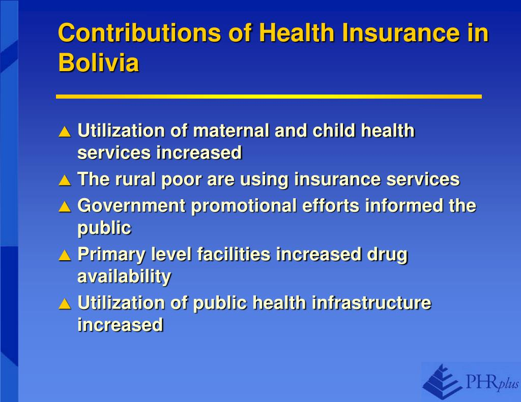 Contributions of Health Insurance in Bolivia