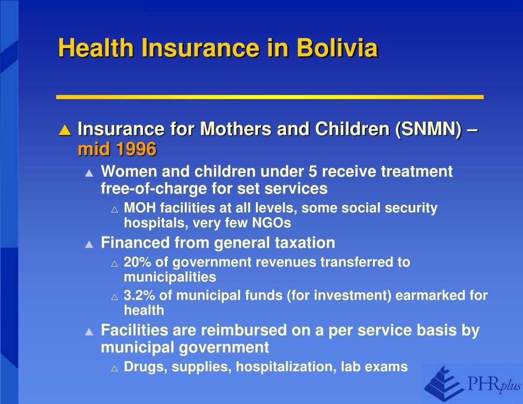 Health Insurance in Bolivia