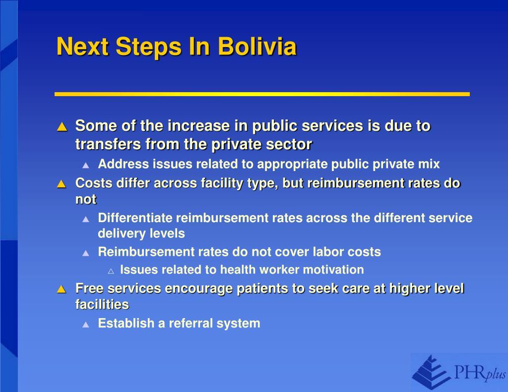 Next Steps In Bolivia