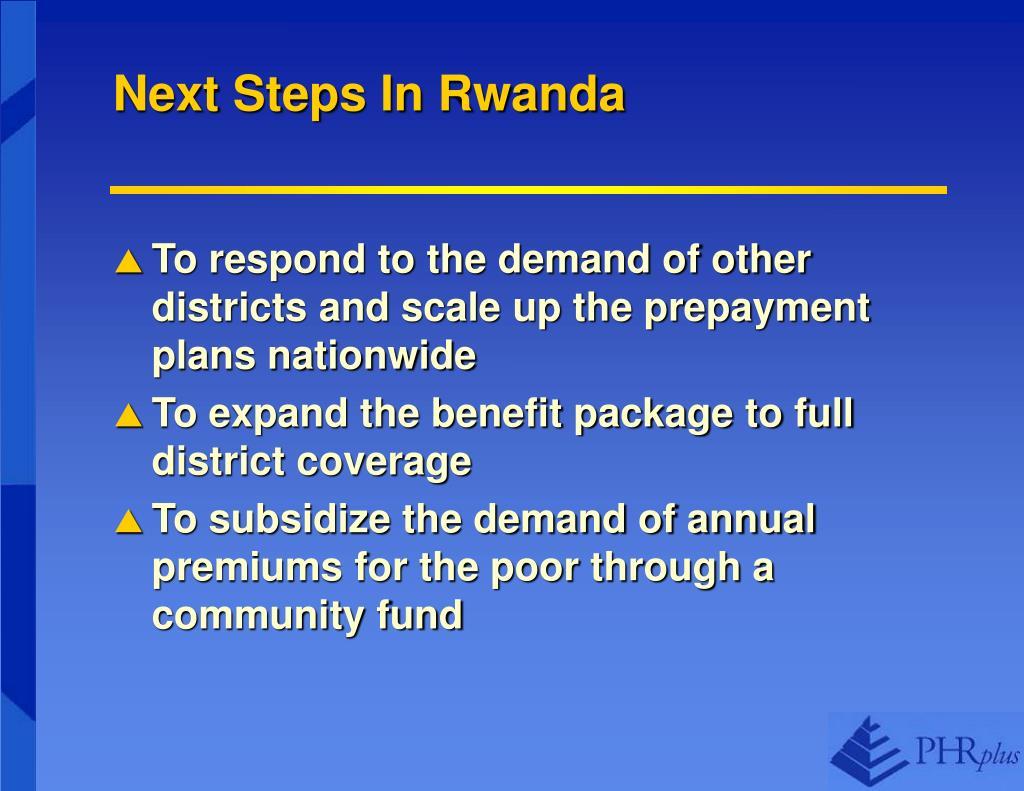 Next Steps In Rwanda