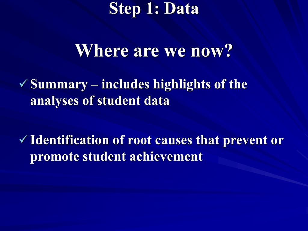 Step 1: Data