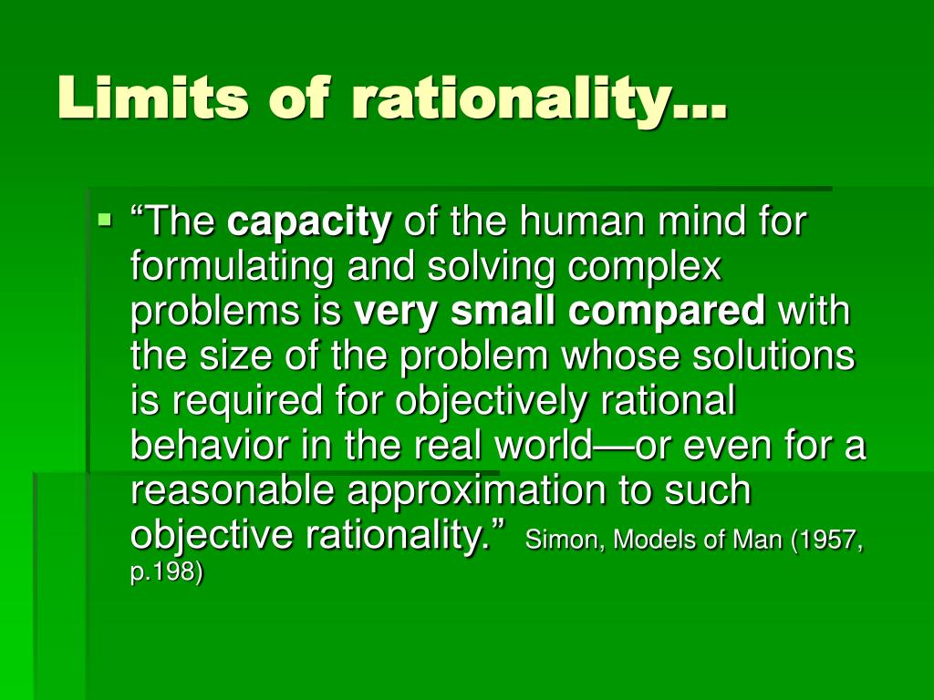 Limits of rationality…