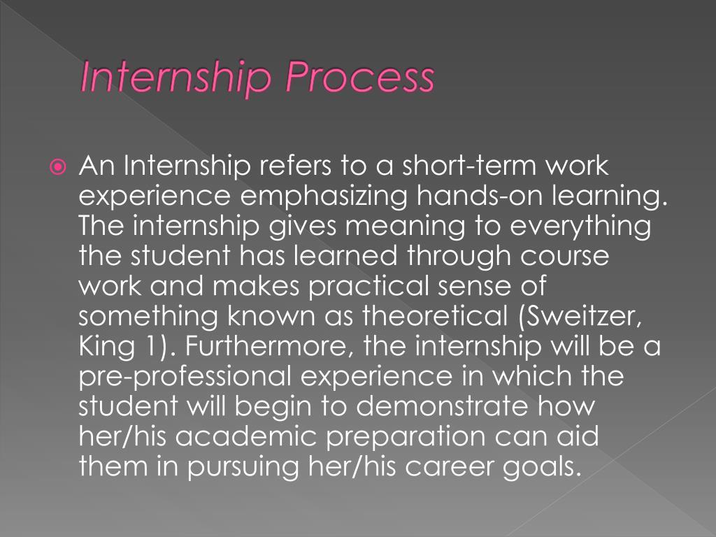 Internship Process