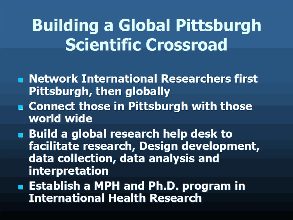 Building a Global Pittsburgh