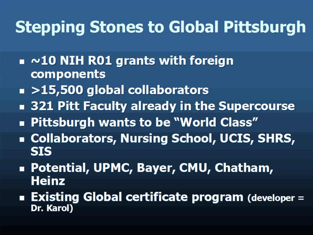 Stepping Stones to Global Pittsburgh