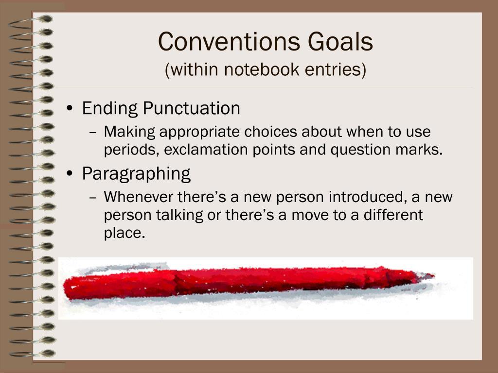 Conventions Goals