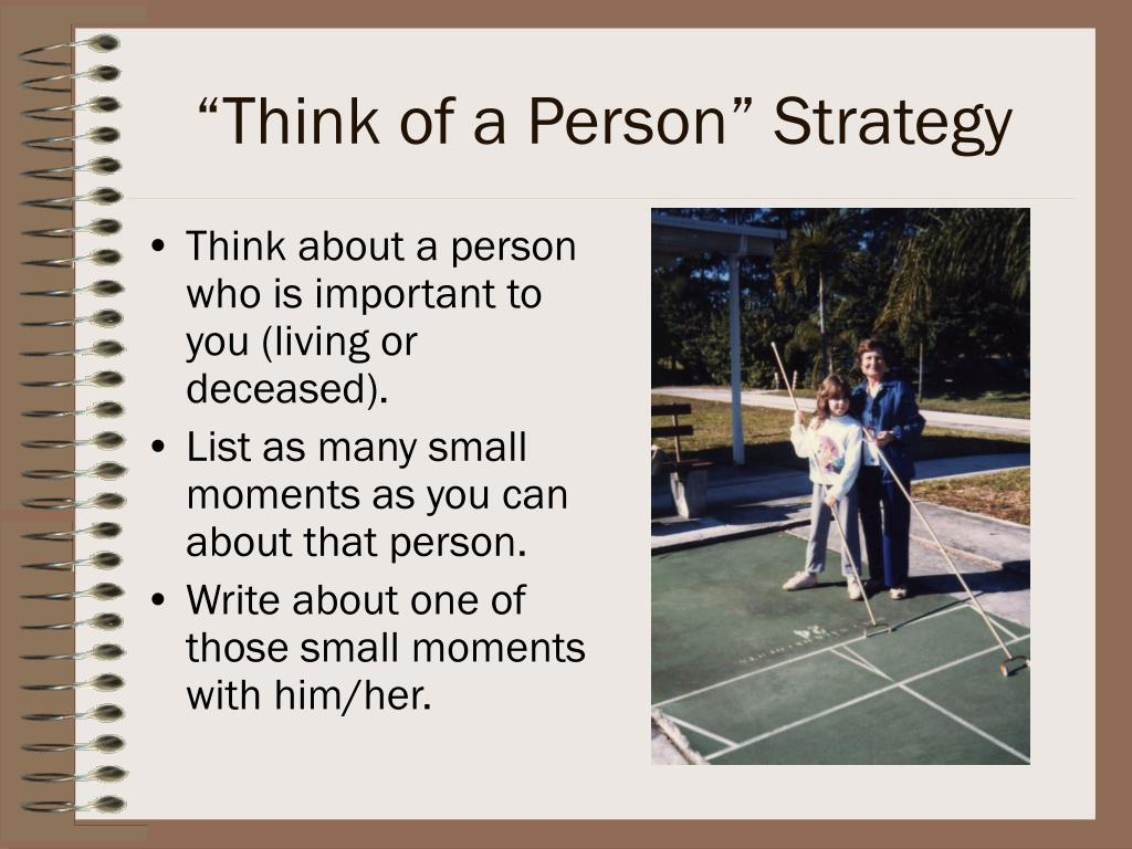 """""""Think of a Person"""" Strategy"""