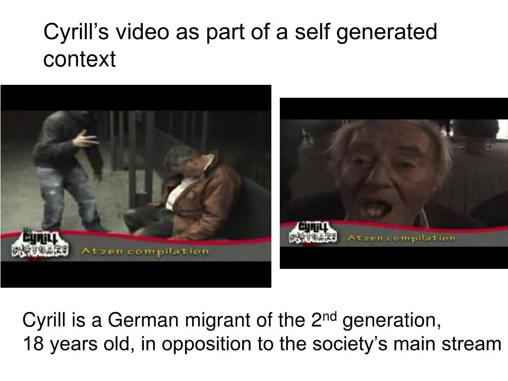 Cyrill's video as part of a self generated context