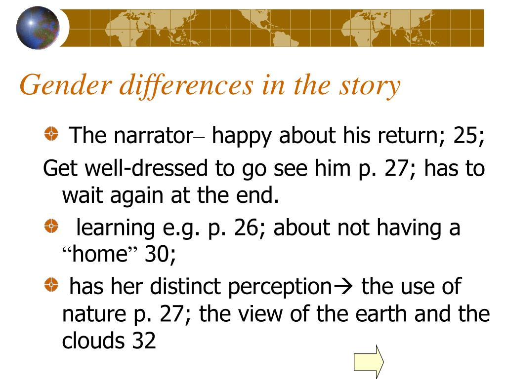 Gender differences in the story
