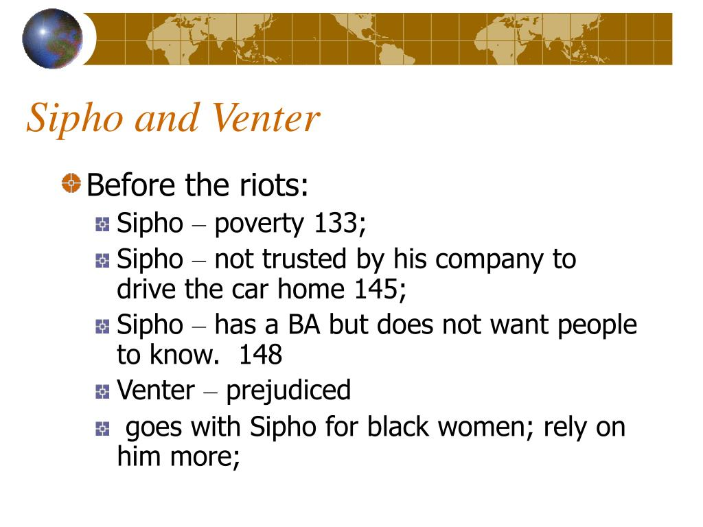 Sipho and Venter
