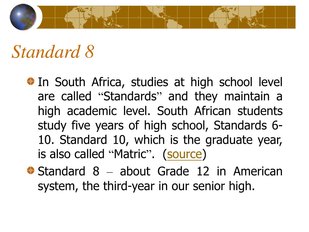 Standard 8