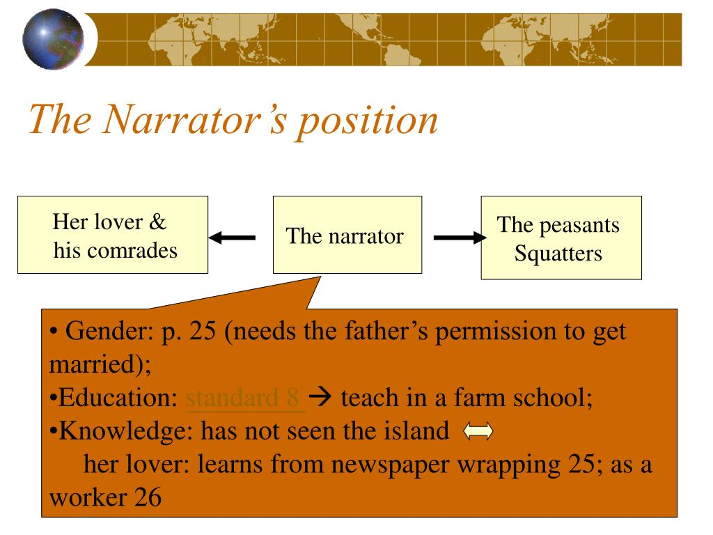 The Narrator's position