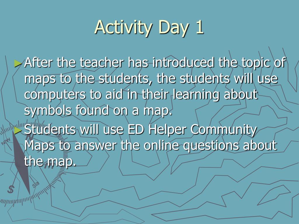 Activity Day 1