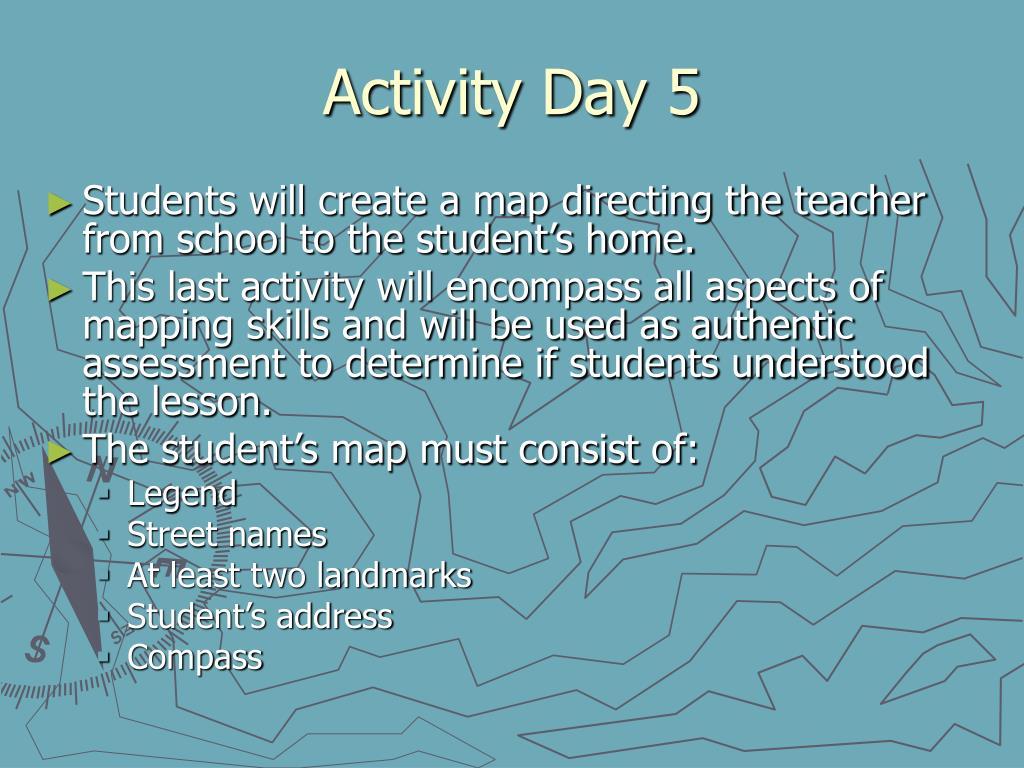 Activity Day 5