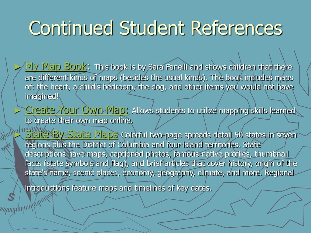 Continued Student References