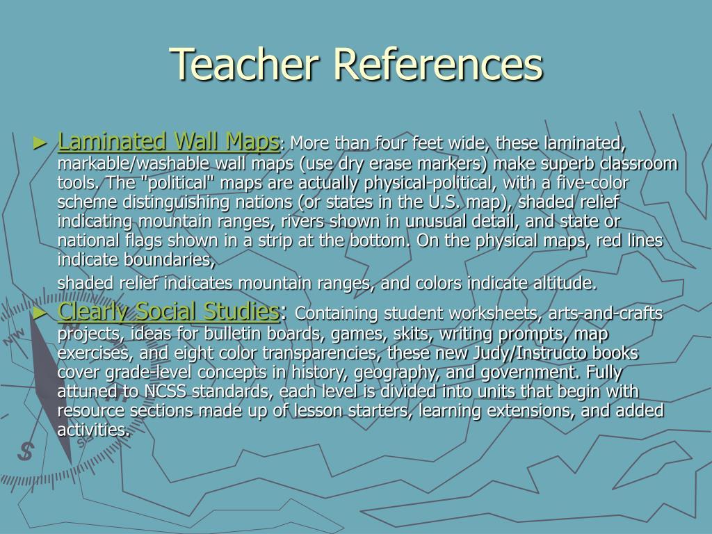 Teacher References