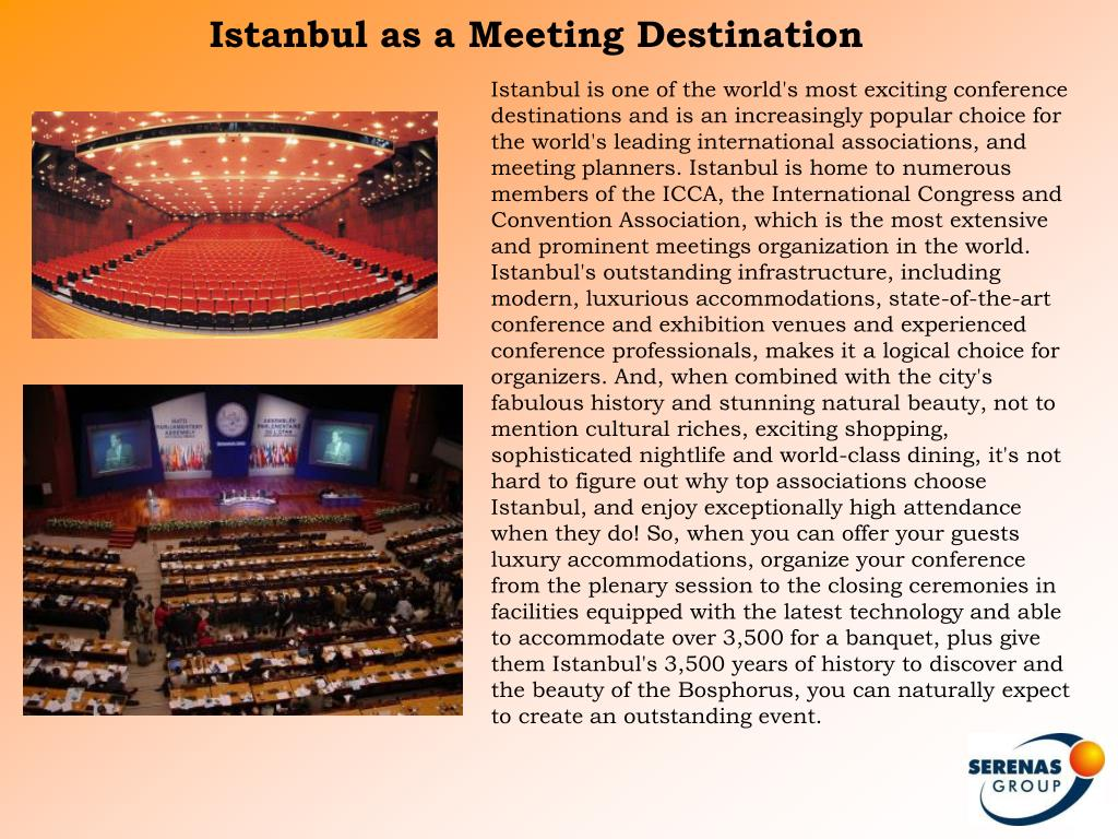 Istanbul as a Meeting Destination