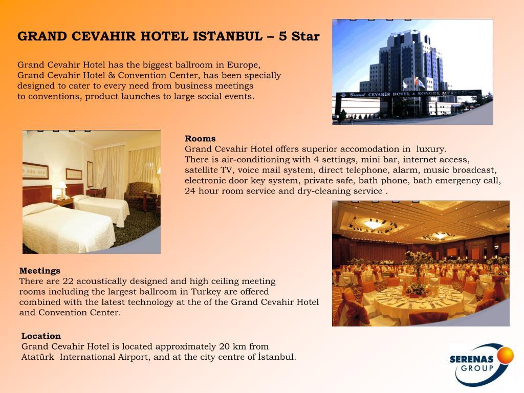 GRAND CEVAHIR HOTEL ISTANBUL – 5 Star
