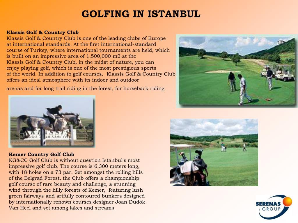 GOLFING IN ISTANBUL