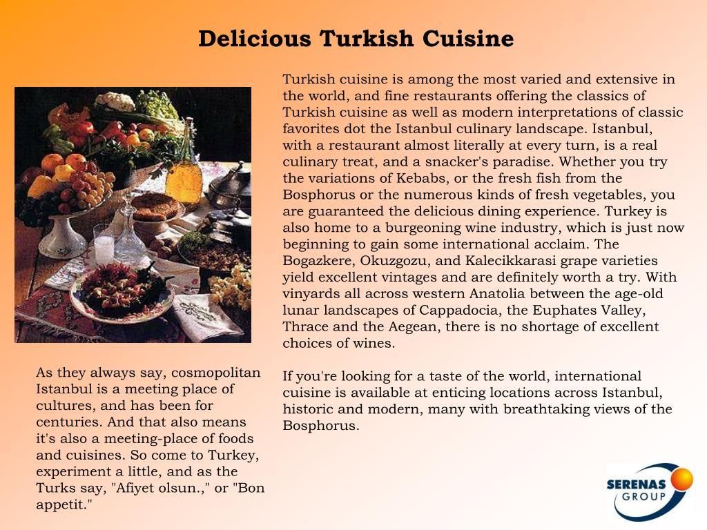 Delicious Turkish Cuisine