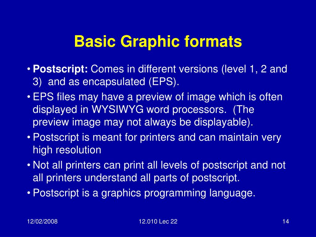 Basic Graphic formats