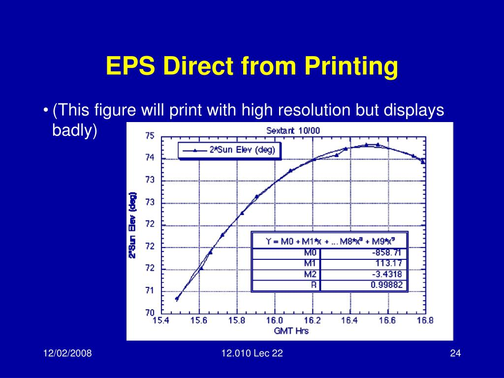 EPS Direct from Printing