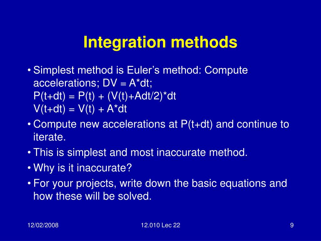 Integration methods