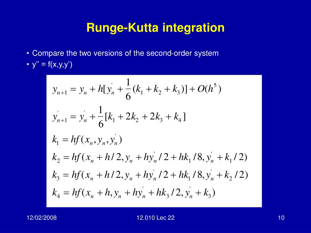 Runge-Kutta integration