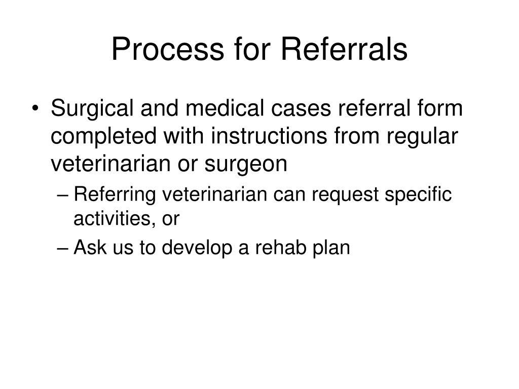 Process for Referrals