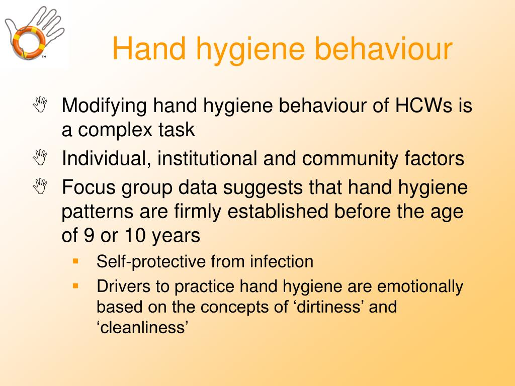 Hand hygiene behaviour