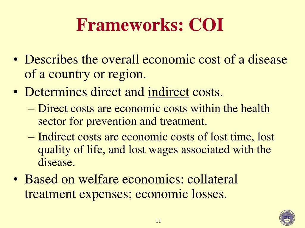 Frameworks: COI