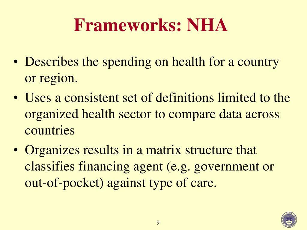 Frameworks: NHA