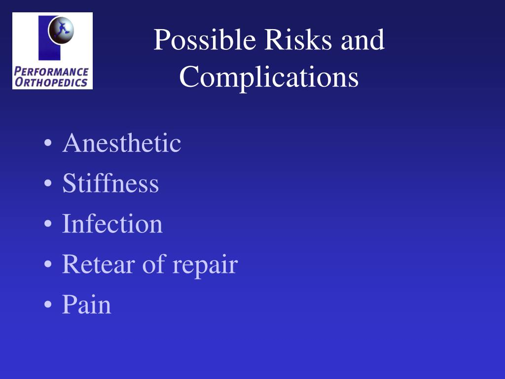 Possible Risks and Complications