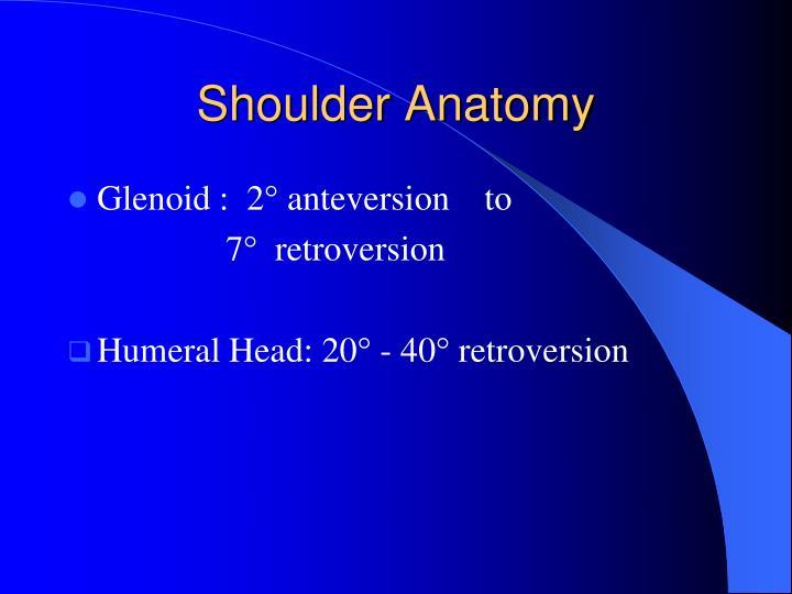 Shoulder anatomy ppt
