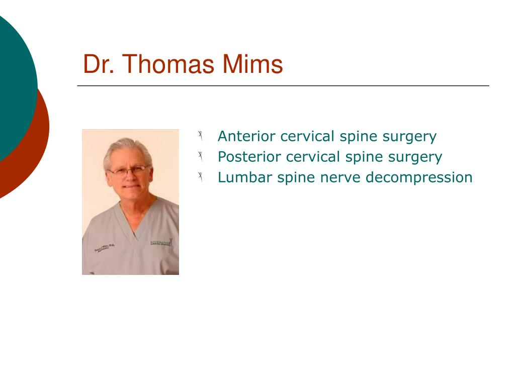 Dr. Thomas Mims
