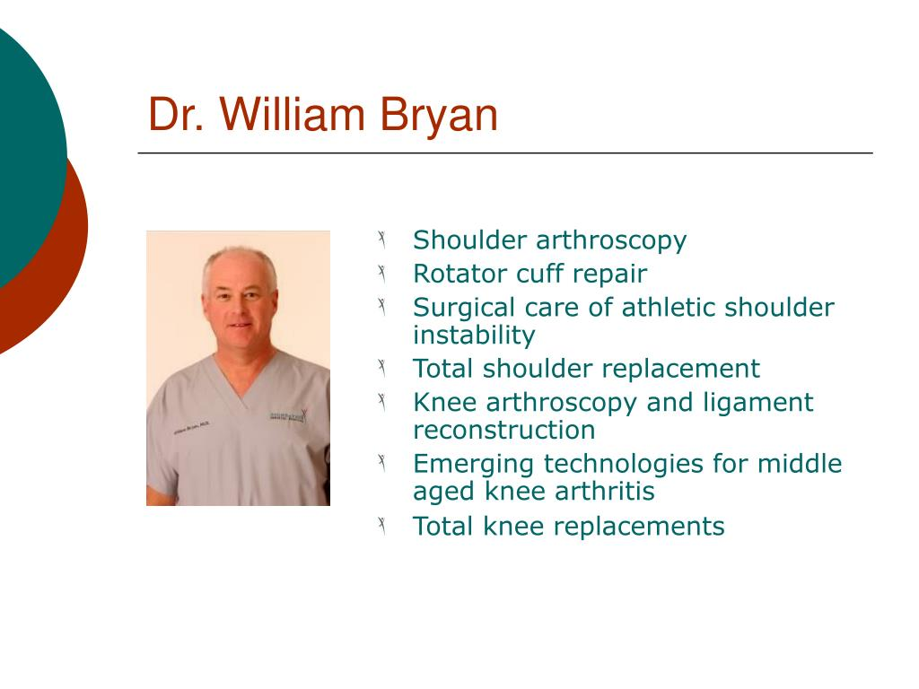Dr. William Bryan