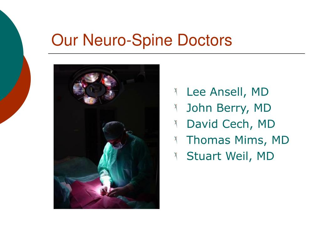 Our Neuro-Spine Doctors