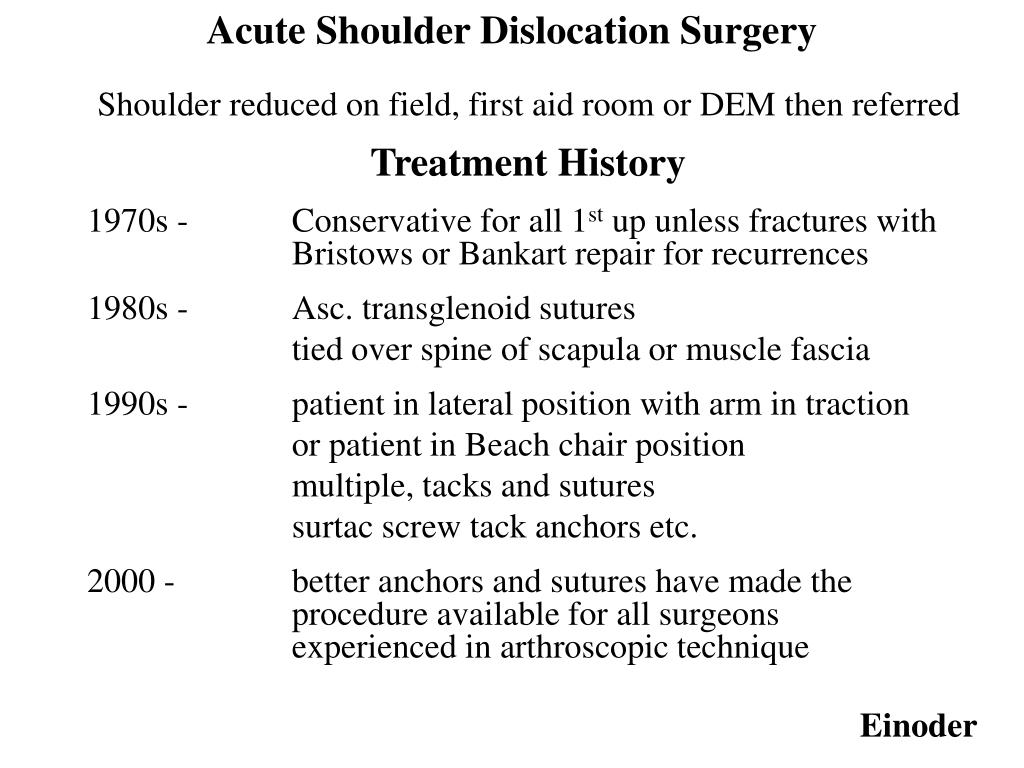 Shoulder reduced on field, first aid room or DEM then referred