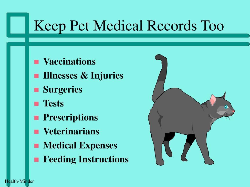 Keep Pet Medical Records Too