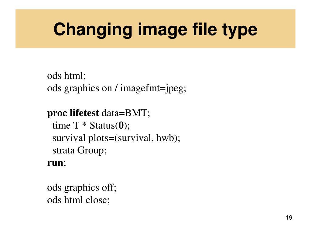Changing image file type