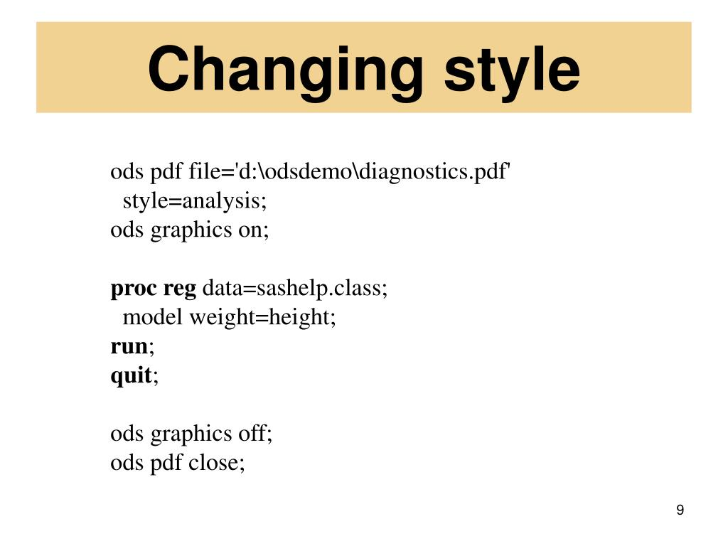 Changing style