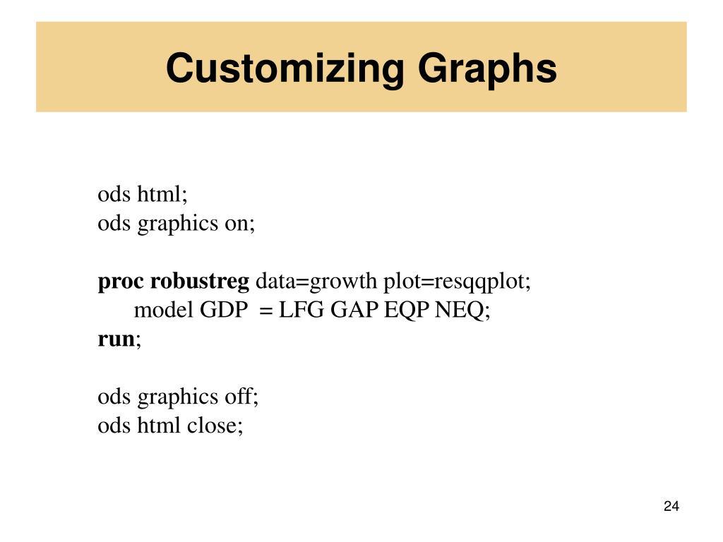 Customizing Graphs