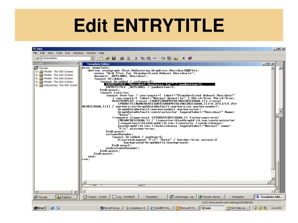 Edit ENTRYTITLE