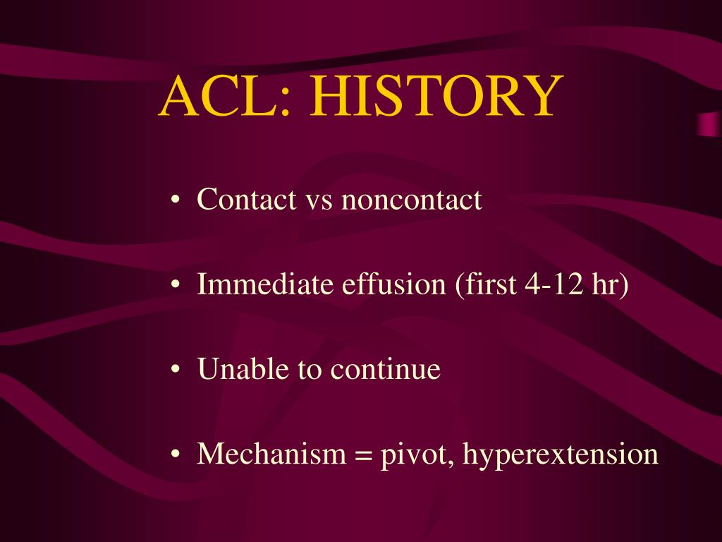 ACL: HISTORY