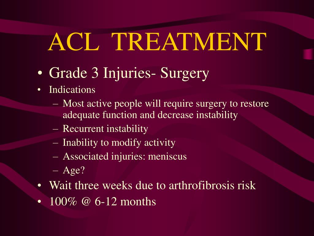ACL  TREATMENT