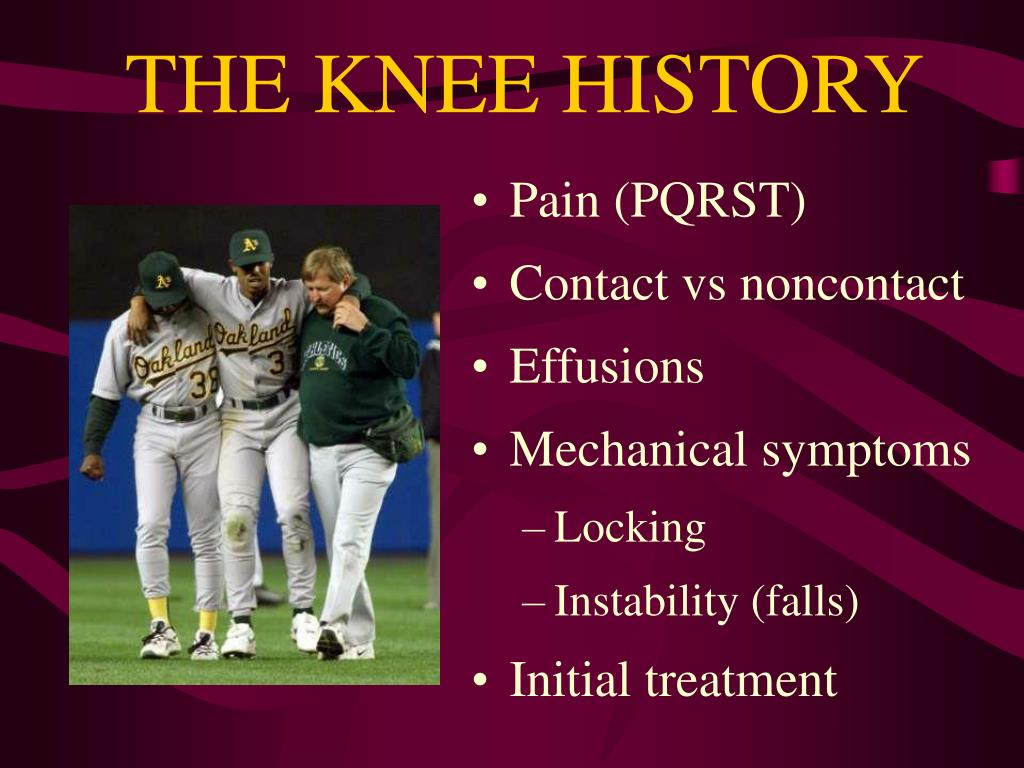 THE KNEE HISTORY
