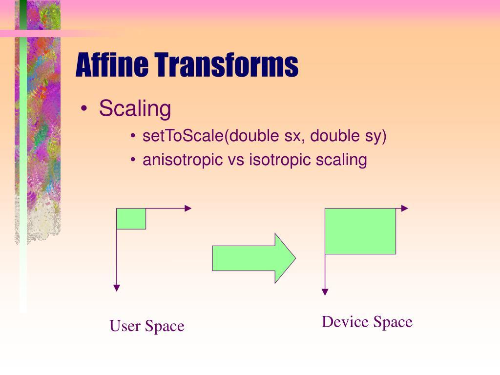 Affine Transforms