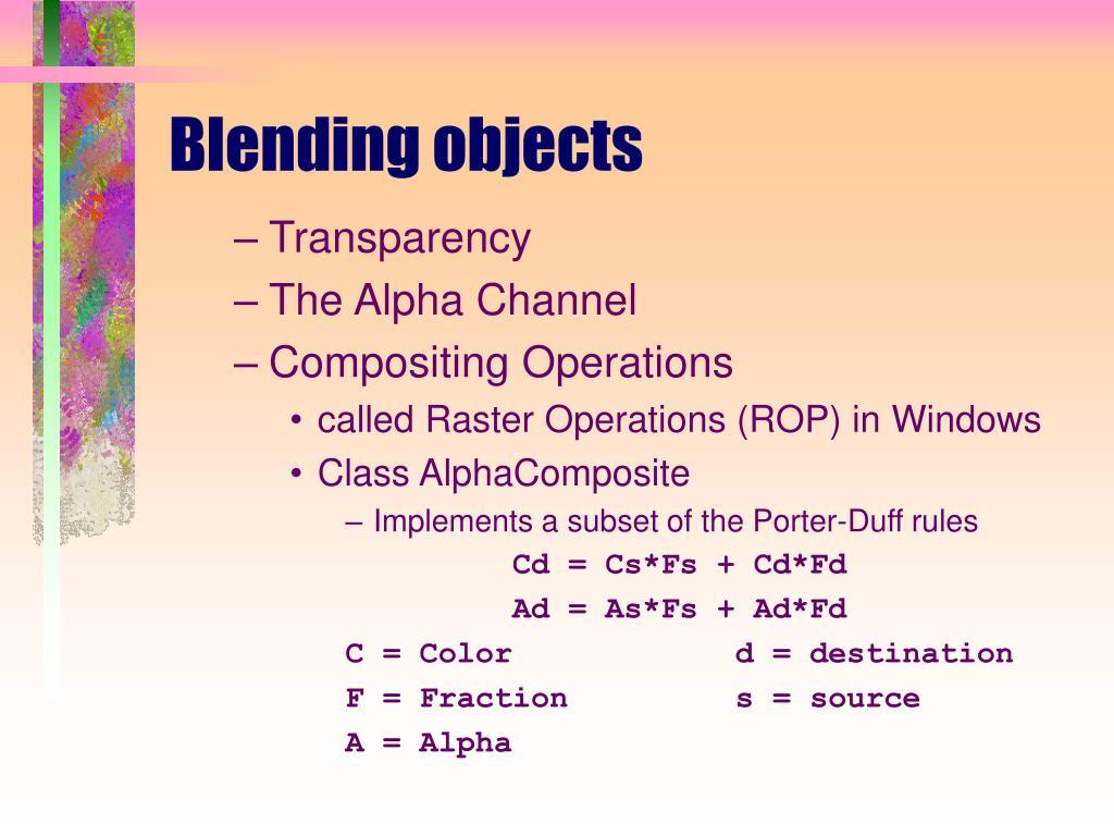 Blending objects