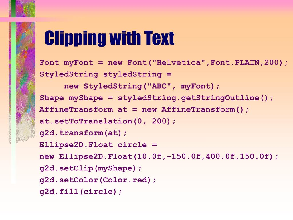 Clipping with Text